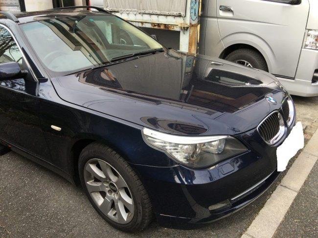 BMW E60 サンルーフ溝の詰まりからのバッテリー故障